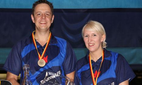 Birgit Pöppler und Michael Krämer sind Deutsche Meister im Mixed Doppel 2011