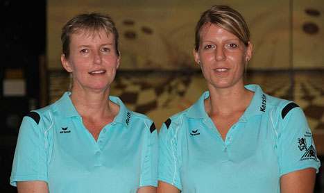 Ruth Hehl und Kerstin Sielaff sind Deutsche Vize-Meisterinnen im Damen Doppel 2011