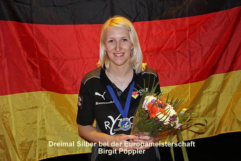 Drei Silbermedaillen für Birgit Pöppler